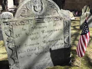 King's Chapel Burying Ground Headstone